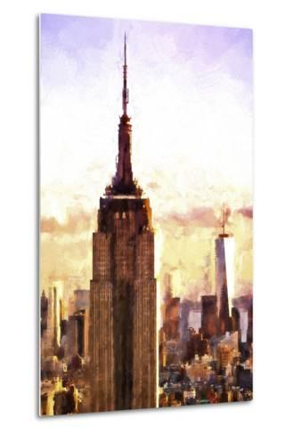 Top of the Empire State Building at Sunset-Philippe Hugonnard-Metal Print