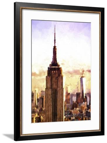 Top of the Empire State Building at Sunset-Philippe Hugonnard-Framed Art Print