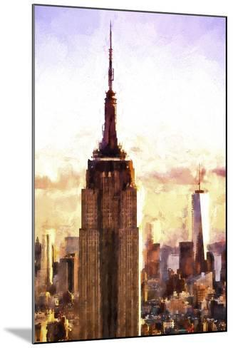 Top of the Empire State Building at Sunset-Philippe Hugonnard-Mounted Giclee Print