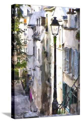 Alley in Paris-Philippe Hugonnard-Stretched Canvas Print
