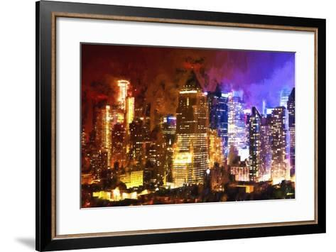 Manhattan Color Shade-Philippe Hugonnard-Framed Art Print