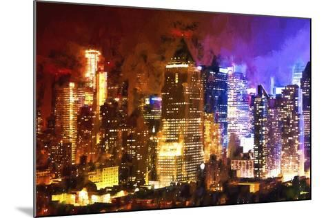 Manhattan Color Shade-Philippe Hugonnard-Mounted Giclee Print
