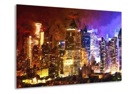 Manhattan Color Shade-Philippe Hugonnard-Metal Print