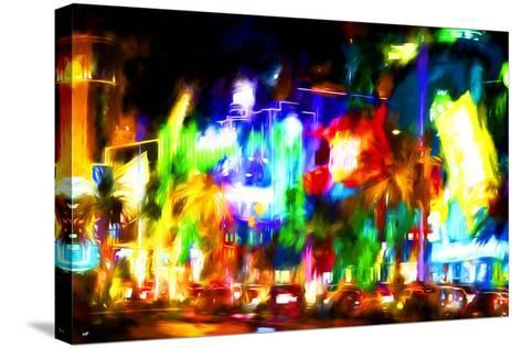 Colors Strip - In the Style of Oil Painting-Philippe Hugonnard-Stretched Canvas Print
