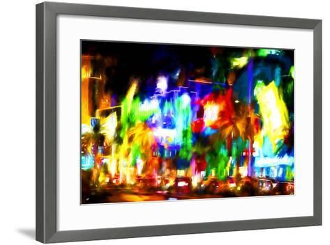 Colors Strip - In the Style of Oil Painting-Philippe Hugonnard-Framed Art Print