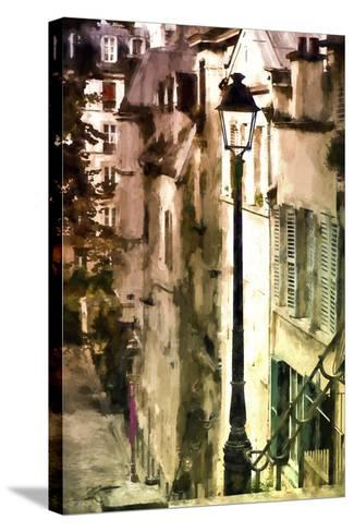 Alley in Montmartre-Philippe Hugonnard-Stretched Canvas Print