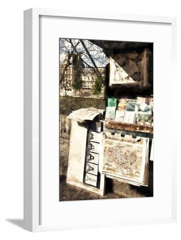 Paris Booksellers-Philippe Hugonnard-Framed Art Print