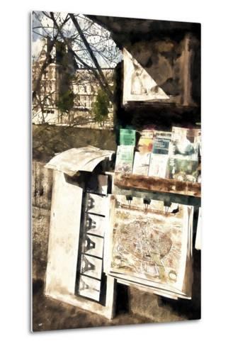 Paris Booksellers-Philippe Hugonnard-Metal Print