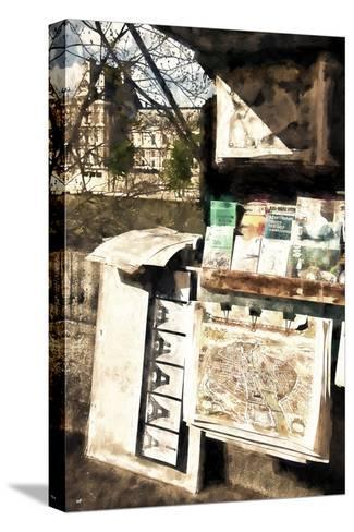 Paris Booksellers-Philippe Hugonnard-Stretched Canvas Print