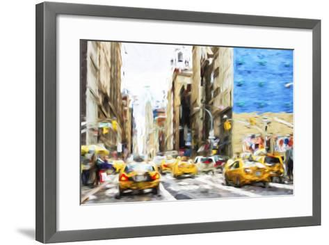 NYC Taxis - In the Style of Oil Painting-Philippe Hugonnard-Framed Art Print