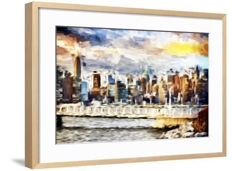 Gateway to New York - In the Style of Oil Painting-Philippe Hugonnard-Framed Art Print