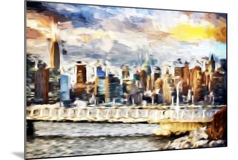 Gateway to New York - In the Style of Oil Painting-Philippe Hugonnard-Mounted Giclee Print