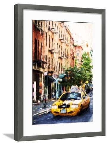 Manhattan Taxi - In the Style of Oil Painting-Philippe Hugonnard-Framed Art Print