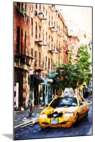 Manhattan Taxi - In the Style of Oil Painting-Philippe Hugonnard-Mounted Giclee Print