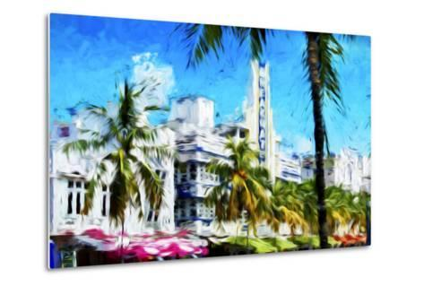 Art Deco District - In the Style of Oil Painting-Philippe Hugonnard-Metal Print