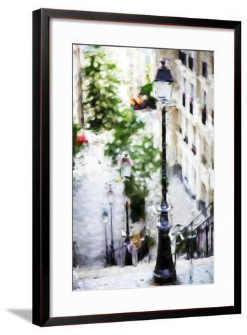 Parisian Lamppost III - In the Style of Oil Painting-Philippe Hugonnard-Framed Art Print