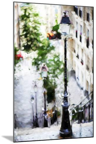 Parisian Lamppost III - In the Style of Oil Painting-Philippe Hugonnard-Mounted Giclee Print