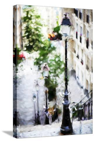 Parisian Lamppost III - In the Style of Oil Painting-Philippe Hugonnard-Stretched Canvas Print