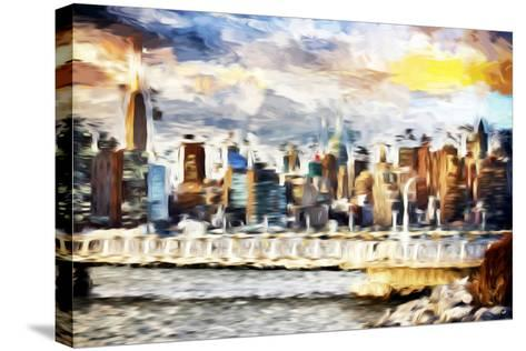 Gateway to New York - In the Style of Oil Painting-Philippe Hugonnard-Stretched Canvas Print