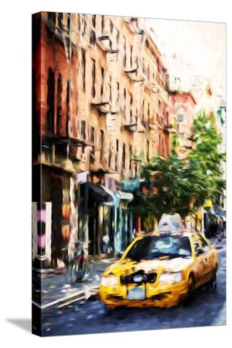 Manhattan Taxi - In the Style of Oil Painting-Philippe Hugonnard-Stretched Canvas Print