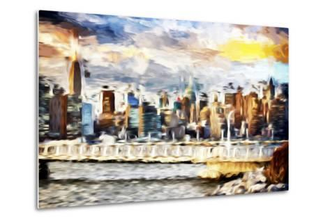 Gateway to New York - In the Style of Oil Painting-Philippe Hugonnard-Metal Print