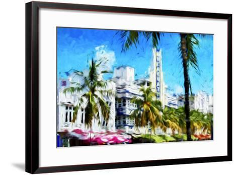 Art Deco District - In the Style of Oil Painting-Philippe Hugonnard-Framed Art Print