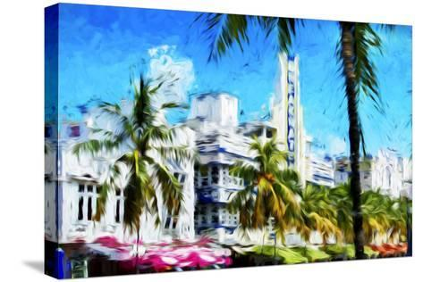 Art Deco District - In the Style of Oil Painting-Philippe Hugonnard-Stretched Canvas Print