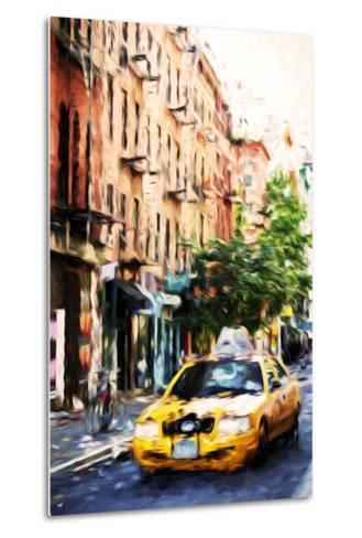Manhattan Taxi - In the Style of Oil Painting-Philippe Hugonnard-Metal Print