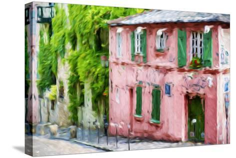 The Pink House - In the Style of Oil Painting-Philippe Hugonnard-Stretched Canvas Print