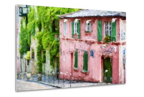 The Pink House - In the Style of Oil Painting-Philippe Hugonnard-Metal Print