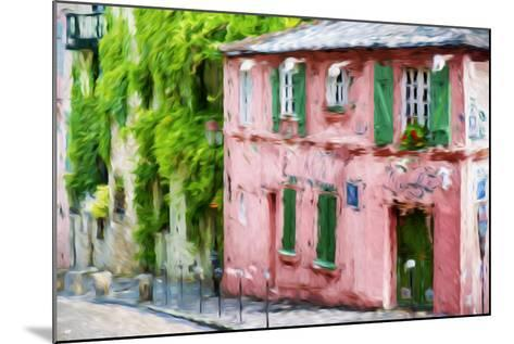 The Pink House - In the Style of Oil Painting-Philippe Hugonnard-Mounted Giclee Print