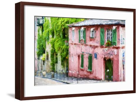The Pink House - In the Style of Oil Painting-Philippe Hugonnard-Framed Art Print