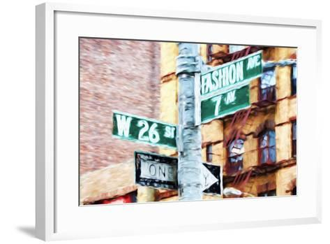 Fashion Avenue - In the Style of Oil Painting-Philippe Hugonnard-Framed Art Print