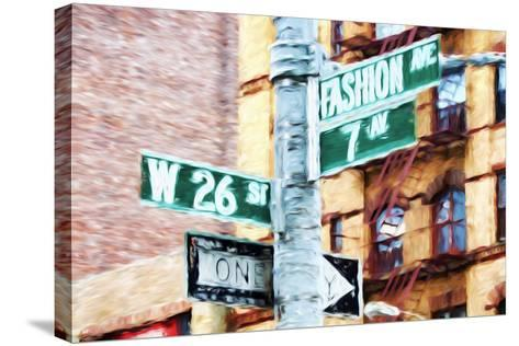 Fashion Avenue - In the Style of Oil Painting-Philippe Hugonnard-Stretched Canvas Print