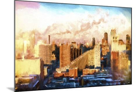 New York Sunset Colors-Philippe Hugonnard-Mounted Giclee Print