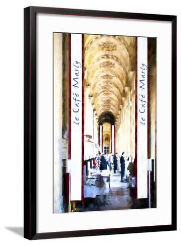 Le Caf? Paris-Philippe Hugonnard-Framed Art Print