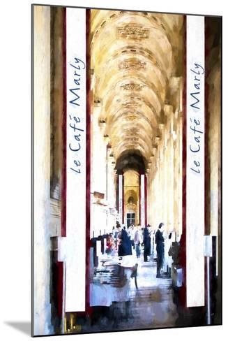 Le Caf? Paris-Philippe Hugonnard-Mounted Giclee Print