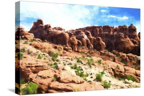 Desert Cliff-Philippe Hugonnard-Stretched Canvas Print