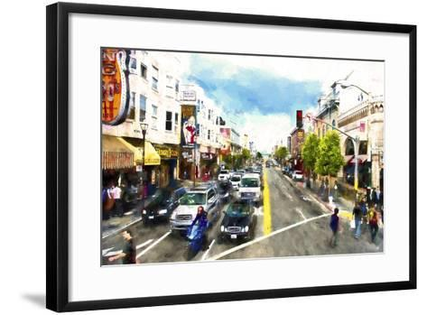 Urban Scene San Francisco-Philippe Hugonnard-Framed Art Print