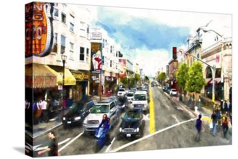 Urban Scene San Francisco-Philippe Hugonnard-Stretched Canvas Print