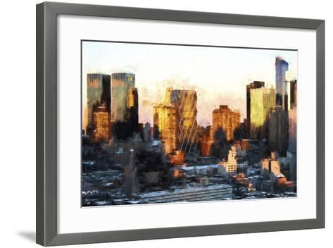 Sunset Buildings-Philippe Hugonnard-Framed Art Print