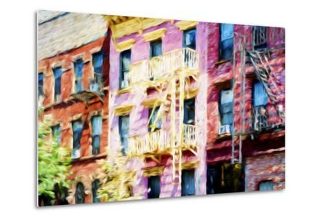 Colorful Buildings - In the Style of Oil Painting-Philippe Hugonnard-Metal Print