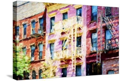 Colorful Buildings - In the Style of Oil Painting-Philippe Hugonnard-Stretched Canvas Print