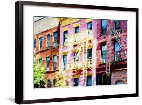 Colorful Buildings - In the Style of Oil Painting-Philippe Hugonnard-Framed Art Print