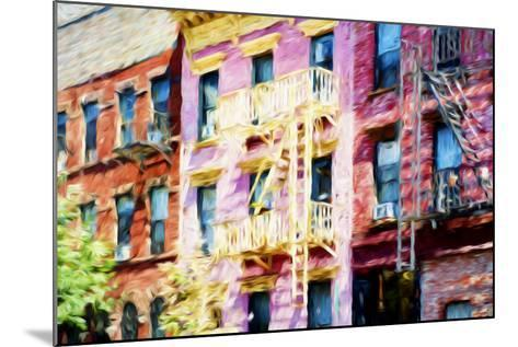 Colorful Buildings - In the Style of Oil Painting-Philippe Hugonnard-Mounted Giclee Print