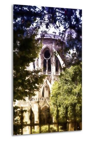 Dark of Notre Dame Cathedral-Philippe Hugonnard-Metal Print