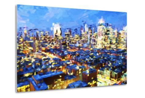 Manhattan Night VII - In the Style of Oil Painting-Philippe Hugonnard-Metal Print