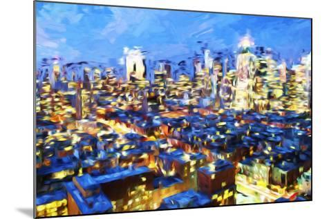 Manhattan Night VII - In the Style of Oil Painting-Philippe Hugonnard-Mounted Giclee Print