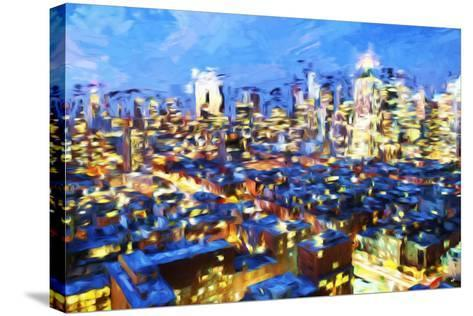 Manhattan Night VII - In the Style of Oil Painting-Philippe Hugonnard-Stretched Canvas Print