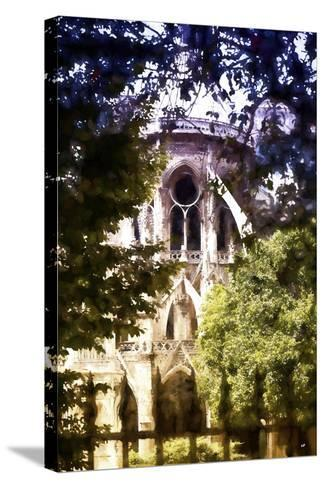 Dark of Notre Dame Cathedral-Philippe Hugonnard-Stretched Canvas Print